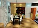 中式客餐厅效果图 清净典雅实用_维意定制家具商城