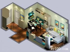 简约客餐厅效果图 18平自然拼搭_维意定制家具商城