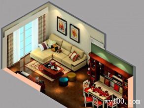 禅意客餐厅效果图 29�O让老家的父母舒生活_维意定制家具商城