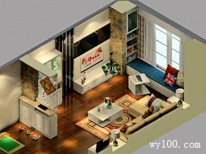 田园风客厅效果图 44�O酷暑里有种清凉叫宅家_维意定制家具商城