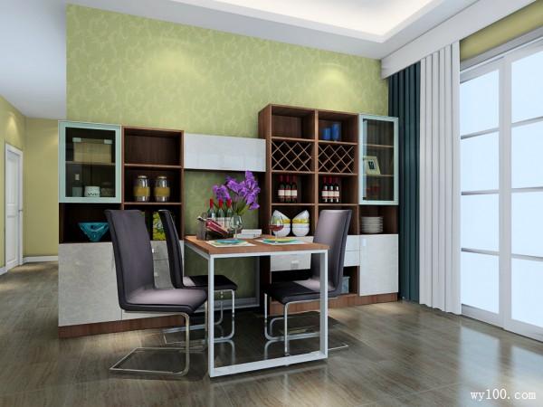 欧式客餐厅效果图 实用为主_维意定制家具商城