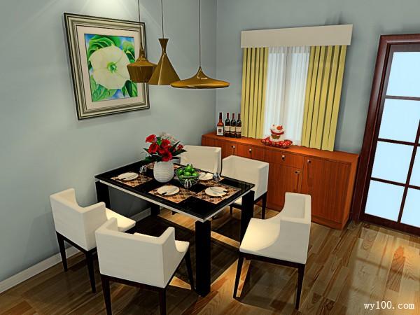 欧式奢华客餐厅 37平尽显主人身份_维意定制家具商城