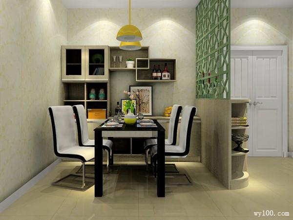 简约时尚客餐厅效果图 现代蓝调_维意定制家具商城