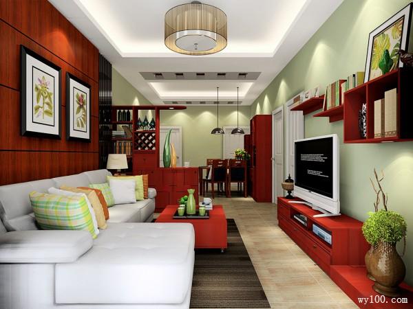 古典美式红木客餐厅 视觉协调_维意定制家具商城