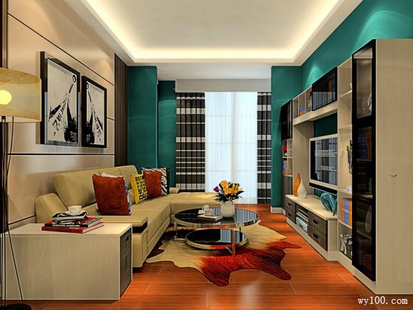 欧式客餐厅效果图 柜体结合增大储物功能_维意定制家具商城