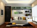 柜体拼搭书房 玻璃门板饰品点缀整体简洁时尚_维意定制家具商城