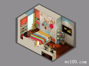 精致可爱儿童房 粉红色色调打造出公主梦幻城堡_维意定制家具商城