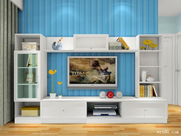 海洋风客餐厅效果图 25�O酷暑宅家清凉一夏_维意定制家具商城