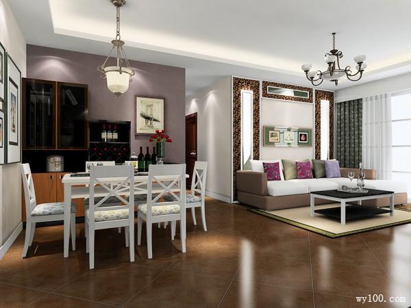 儒雅客餐厅效果图 品位成熟稳重_维意定制家具商城