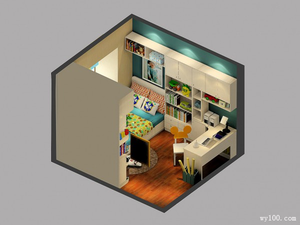 儿童房吊柜设计 加强储物空间_维意定制家具商城