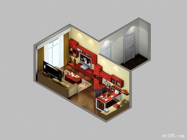简约客餐厅效果图 低调内敛_维意定制家具商城