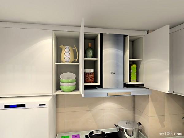 L型的布局厨房设计 吊柜设计增强储物功能_维意定制家具商城