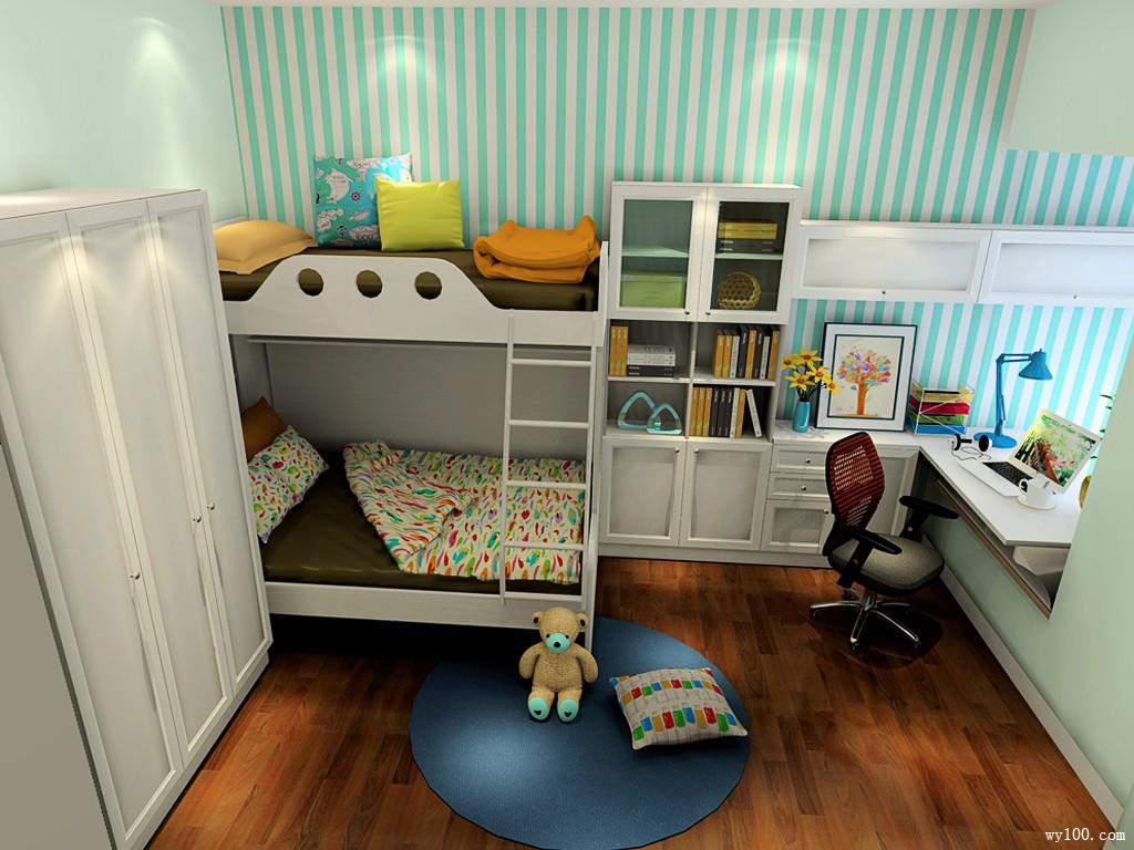 飘窗书桌卧室设计 10㎡2合1扩容