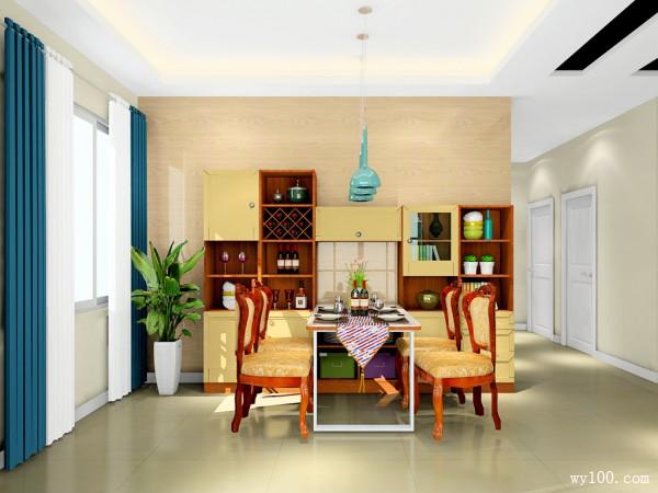 新中式客餐厅效果图 古色古香_维意定制家具商城