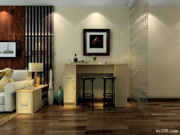 简洁原木客厅 贴合纹理动感_维意定制家具商城