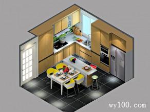 田园风厨房效果图 13�O宅家暖心烹饪_维意定制家具商城