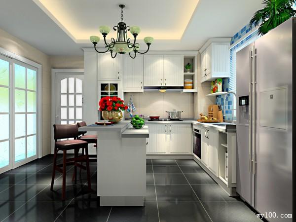 L型通风厨房设计 15�O除乌烟去瘴气_维意定制家具商城