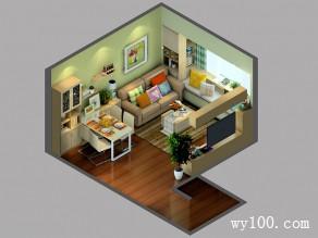 素雅客餐厅 15�O巧妙设计让小户之家别有洞天_维意定制家具商城