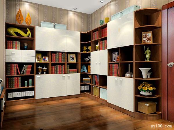 古典书房效果图 9平家具设计_维意定制家具商城