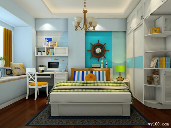 欧式卧室效果图 一家三口小清新_维意定制家具商城