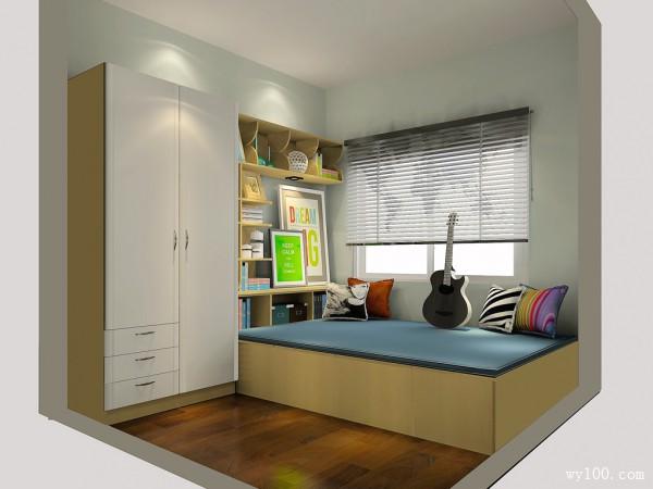 小户型简约书房 有一种空间叫个性时尚_维意定制家具商城