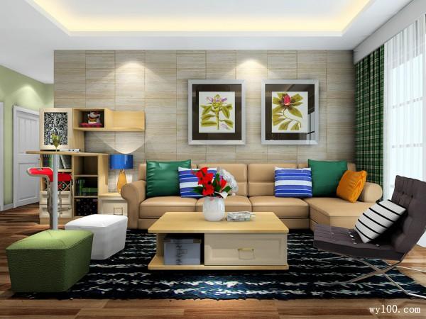 现代简洁客餐厅设计 阳光照射使空间充满温馨感_维意定制家具商城