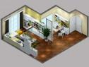 舒适客餐厅效果图 46平精致_维意定制家具商城