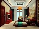 中式客餐厅效果图 30平中国红_维意定制家具商城