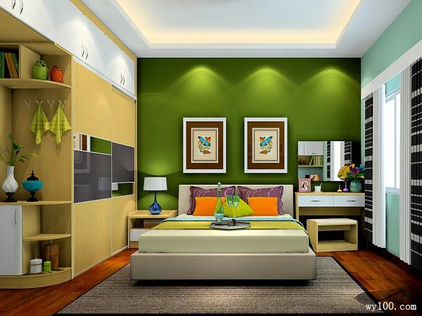 小清新卧室效果图 13�O一房3用_维意定制家具商城