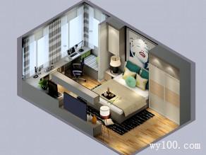 简约现代卧室效果图 米兰格调清新自然_维意定制家具商城