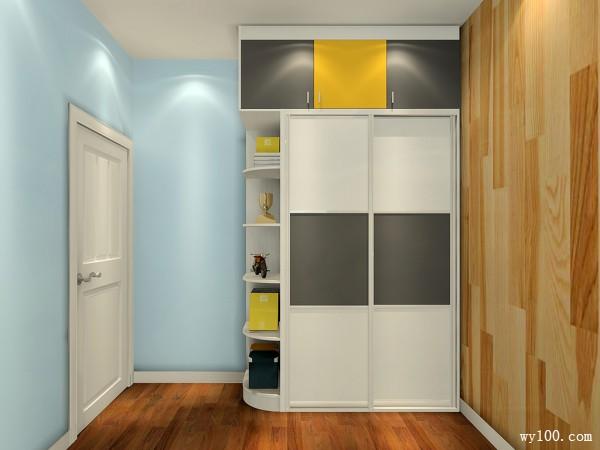 现代衣柜儿童房装修效果图