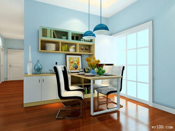 客餐厅装修效果图 75�O整体感觉清新自然_维意定制家具商城