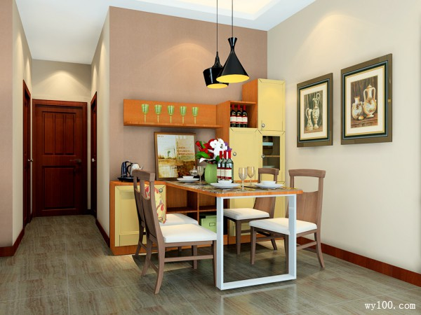 客餐厅装修效果图 36�O美式风格端庄随意_维意定制家具商城