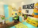 实用儿童房效果图 内含10�O小黄人卡通衣柜组合_维意定制家具商城