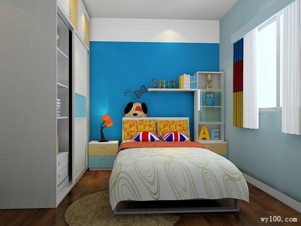 简约衣柜儿童 时尚趟门组合_维意定制家具商城