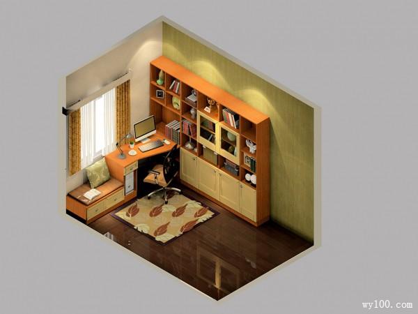 东南亚书房效果图 8平文艺青年书房装饰全攻略_维意定制家具商城