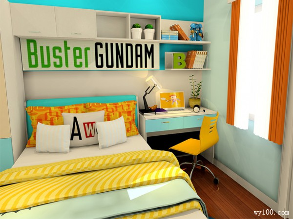 青春儿童房效果图 8�O双子座特有风格_维意定制家具商城