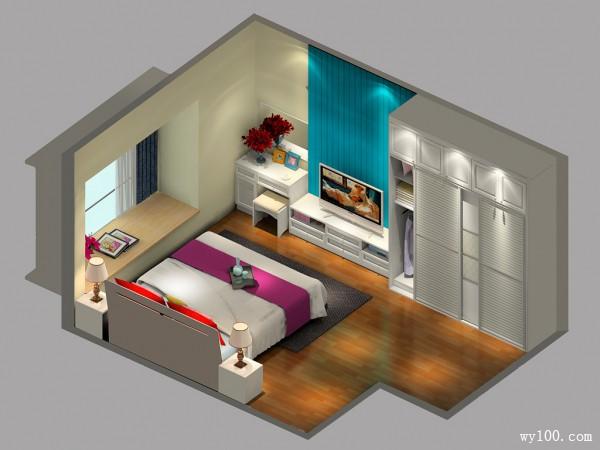 田园式卧室 整体色调偏好温馨自然_维意定制家具商城