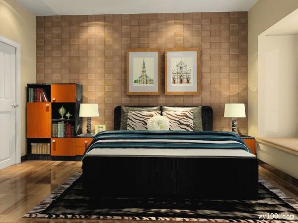 时尚定制床卧室装修效果图