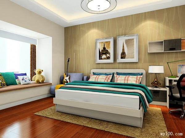 飘窗卧室效果图 欧式经典又实用_维意定制家具商城