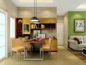 东南亚风客餐厅效果图 21�O化零为整省空间_维意定制家具商城