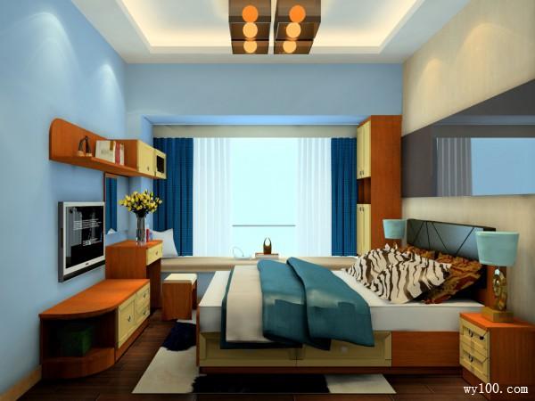 复古卧室效果图 9�O仿古造型让爸妈有个安详夜_维意定制家具商城