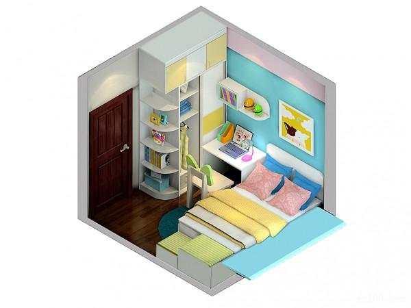 梦幻儿童房效果图 是时候放手让孩子独立成长了_维意定制家具商城