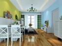 田园式客厅效果图 29�O挑战视觉的撞色搭配_维意定制家具商城