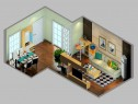 简约客餐厅效果图 37�O与你分享其乐融融的四口之家_维意定制家具商城