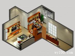 东南亚客厅效果图 25�O空间隔断_维意定制家具商城