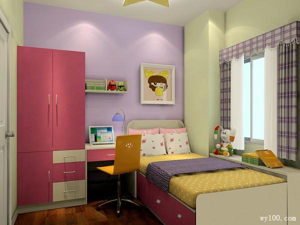梦幻儿童房效果图  有爱的5�O小空间任性利用_维意定制家具商城
