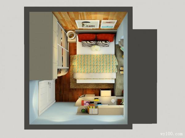"""卧室装修效果图 让定制给小户型带来""""大""""空间_维意定制家具商城"""
