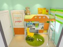 小户型儿童房效果图 4�O欢乐时光大幸福_维意定制家具商城