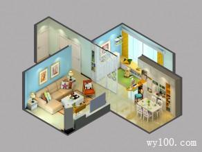田园客餐厅效果图 把阳光带进41�O家_维意定制家具商城